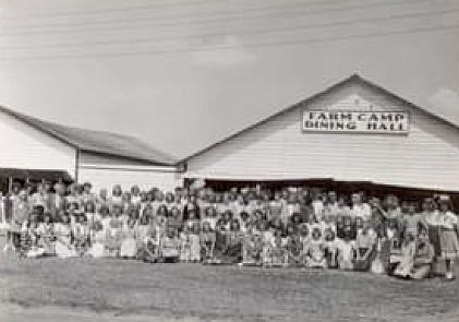 Farm girls camp hosted by the Melfort Agricultural Society in the 1940's. The girls who attended the camp learned many basic skills including housekeeping, camping and arts and crafts.